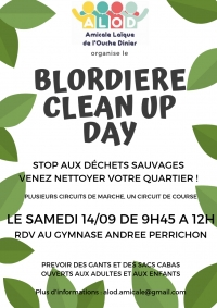 Participez au Blordiere Clean Up Day le 14/09