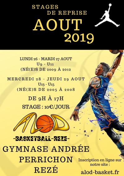 Inscription stage de reprise fin aout