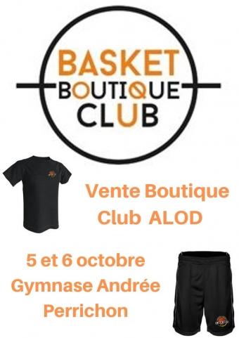 Boutique ALOD, vente les 5 et 6 octobre au gymnase Andrée Perrichon